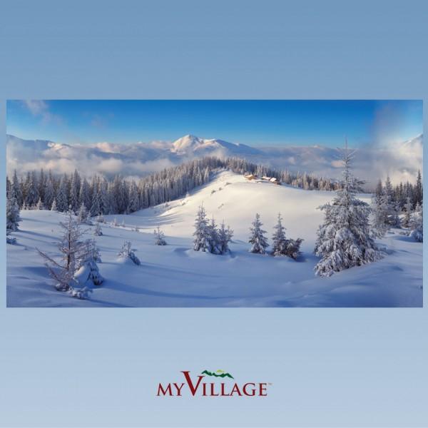 Hintergrundtuch Winter, 150x75cm