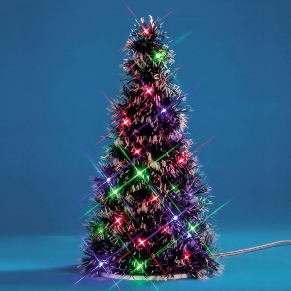 Beleuchteter Baum mit Kugel