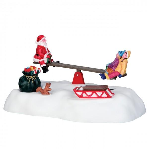 Mit Santa auf der Wippe