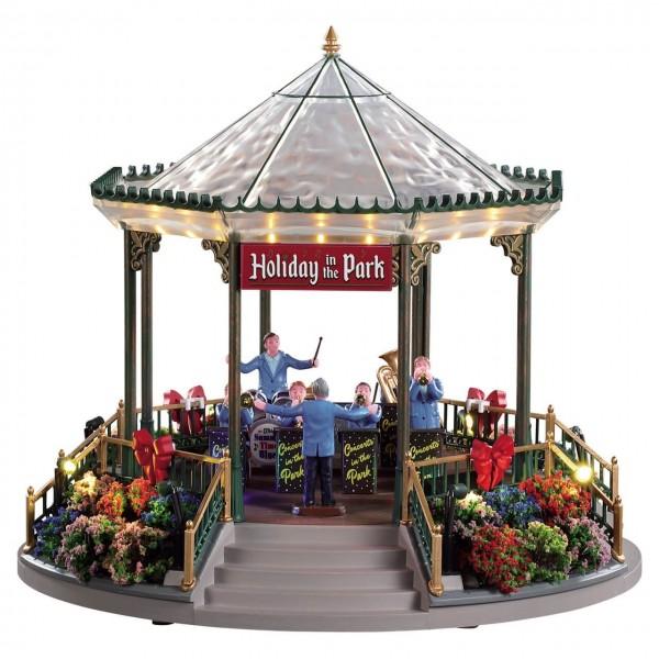 Kiosque vert jardin des fêtes